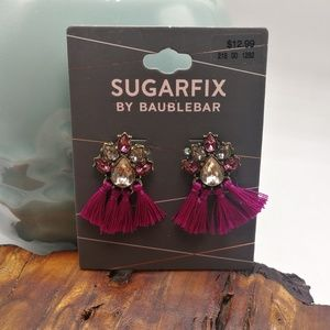 SugarFix BaubleBar magenta fringe tassel
